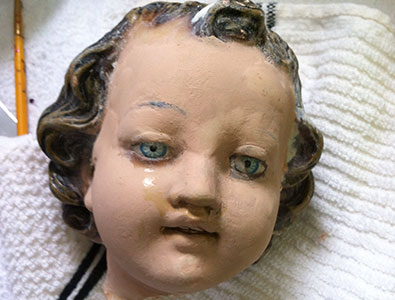 Baby Head Statue - Before
